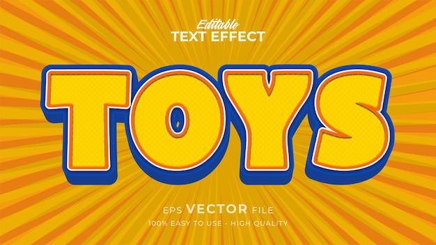 Editable text style effect - toys retro text style theme
