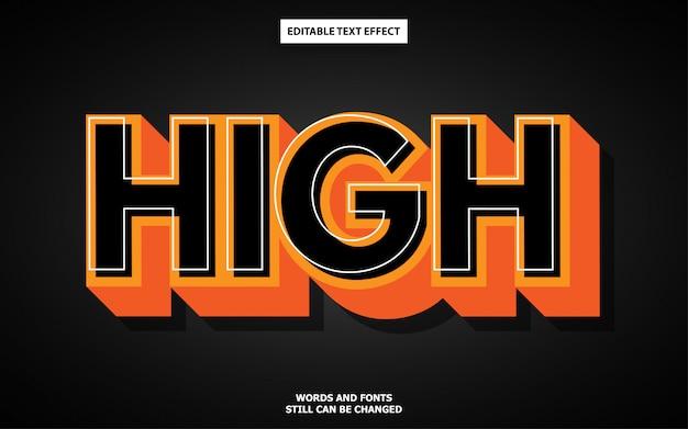 Editable text style effect