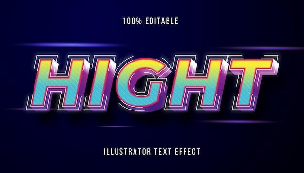 Редактируемый текстовый эффект-высокий электрический стиль