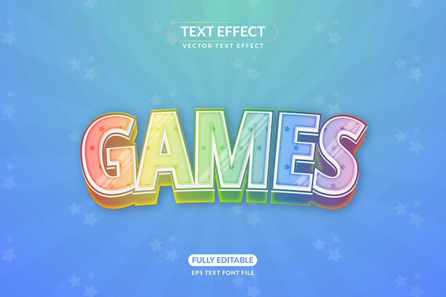 Editable unicorn games text effect style