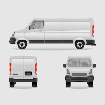 Editable Various View of Cargo Delivery Van
