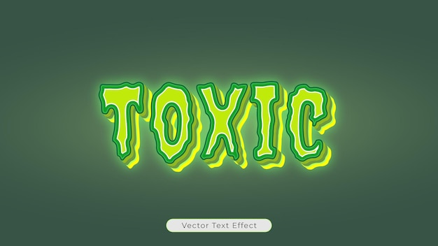 Editable vector text effect of horror melted glowing text