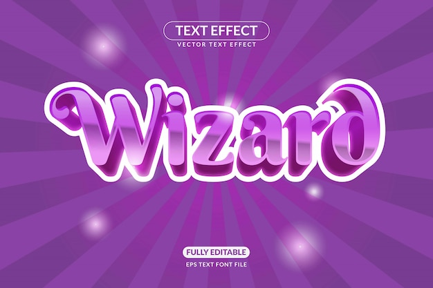 Editable wizard text effect