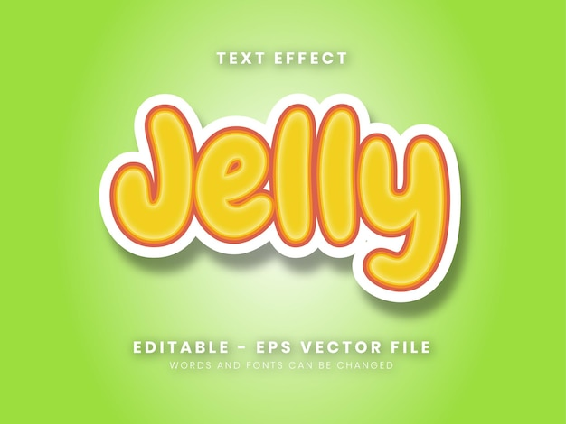 Editable yellow jelly text effect