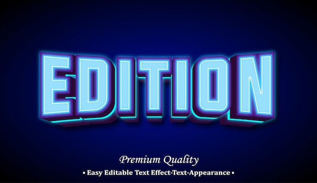 Edition 3d font style effect