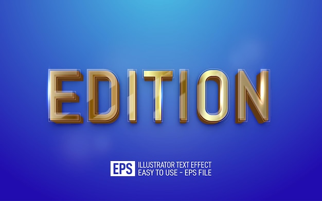 에디션 3d 텍스트 편집 가능한 스타일 효과 템플릿