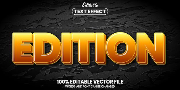 Редактируемый текст, редактируемый текстовый эффект стиля шрифта
