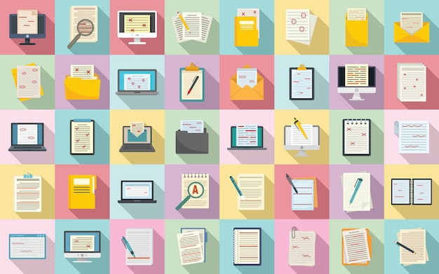 Editor icons set