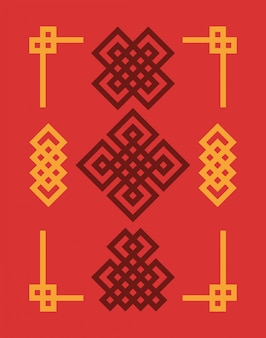 Edless набор китайских узлов.