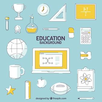 Educacional elements background