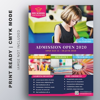 Education, admission, back to shool flyer