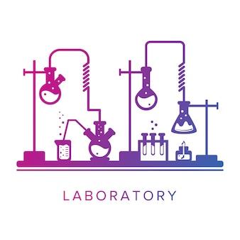 教育と科学の概念化学薬局または研究所化学のテーマ