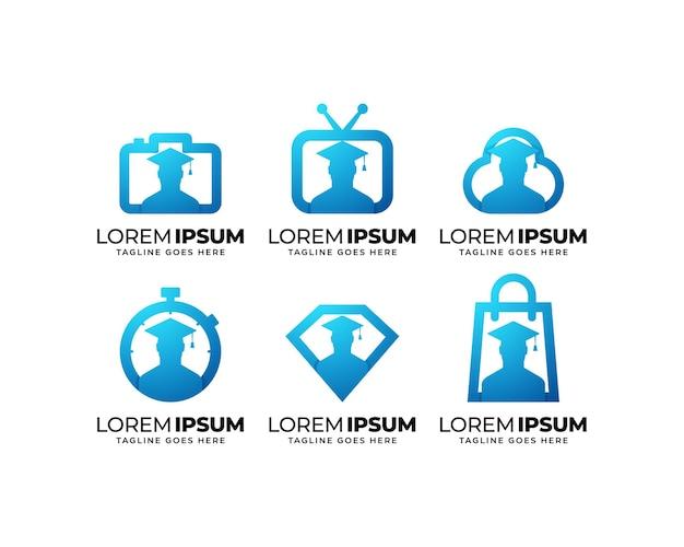 Набор логотипов для образования и обучения