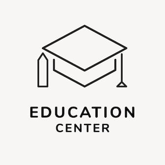 교육 비즈니스 로고 템플릿, 브랜딩 디자인 벡터, 교육 센터 텍스트