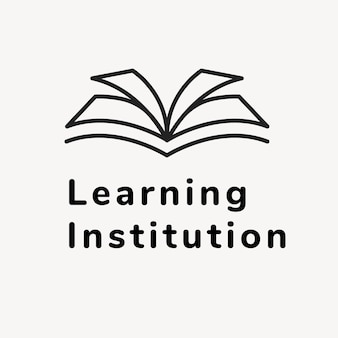 Education business logo template, branding design vector, learning institution text
