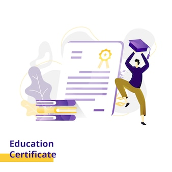 Education certificate illustration