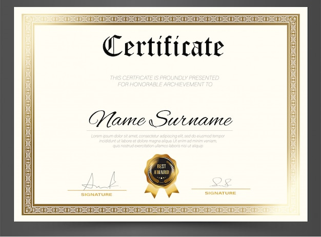 Education certificate template diploma,vector luxury modern , award background gift