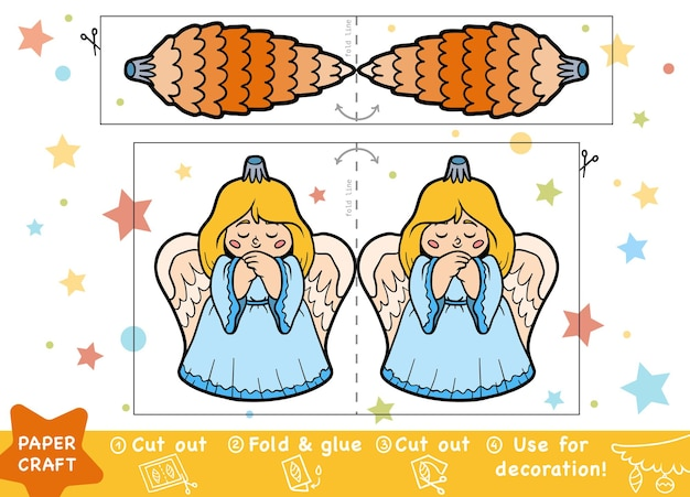 Education christmas paper crafts for children christmas lump and angel