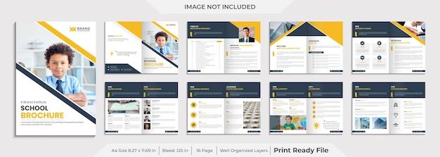 Education company brochure template