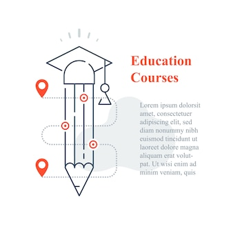 Education concept, online university, distant learning