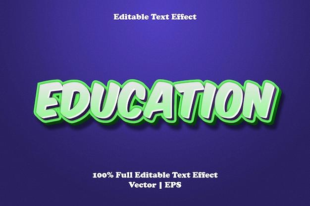 Редактируемый текстовый эффект образования