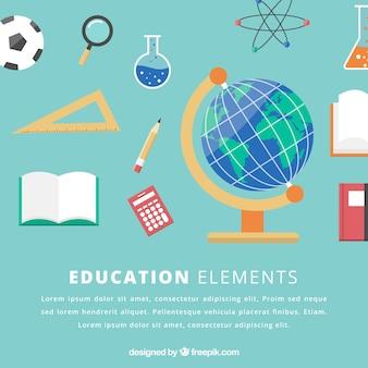 Sfondo di elementi di educazione