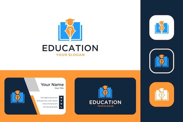 Дизайн логотипа выпускного образования и визитная карточка