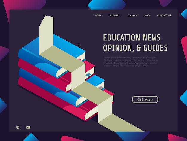 Education grow up with isometric concept