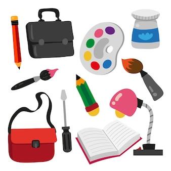 Education icon set, stationary