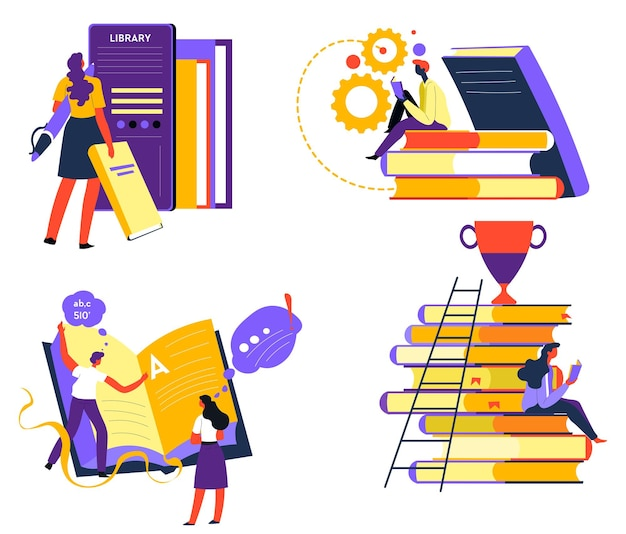 Education and improvement of skills reading books