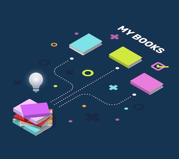 教育インフォグラフィックスキームと要素