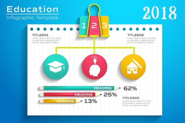 Education infographic template layout with school elements