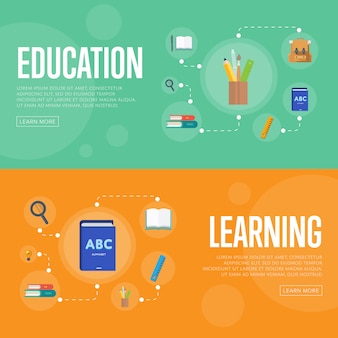 Education infographics  banners