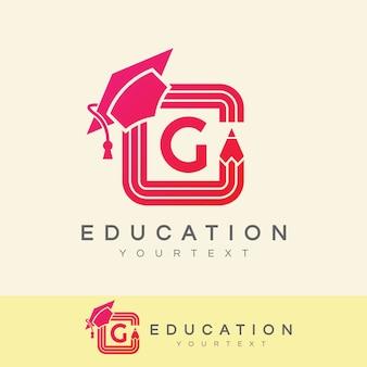 Education initial letter g logo design