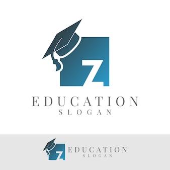 Education initial letter z logo design