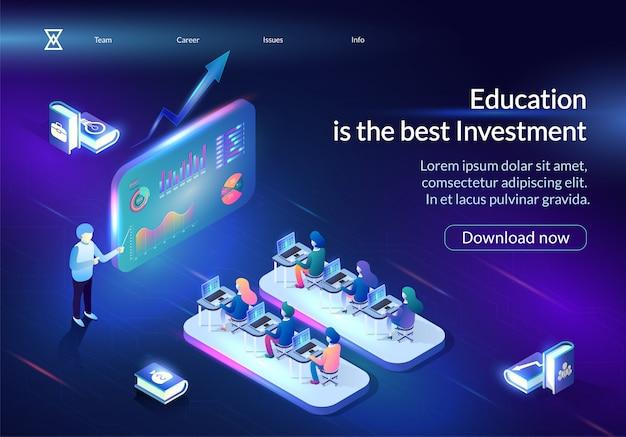 教育は最高の投資水平バナーです