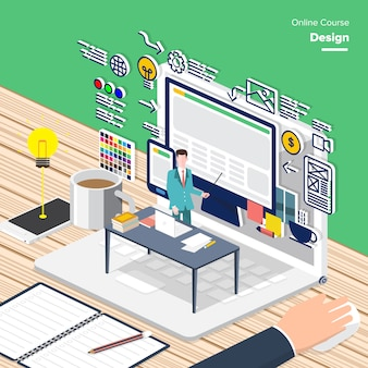 Education isometric design