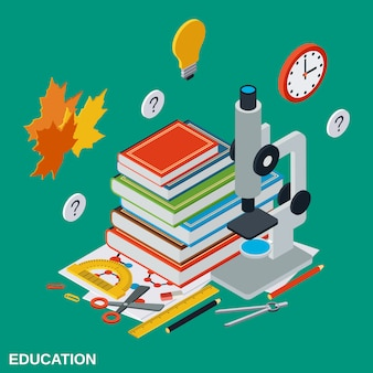 Education isometric illustration