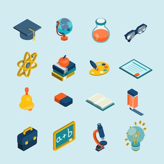 Education isometric set