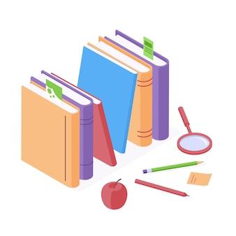Education isometric vector illustration for back to school design