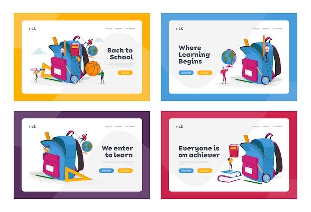 Education landing page template set