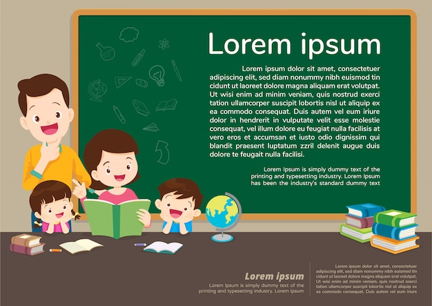 Education and learning,education concept with family background