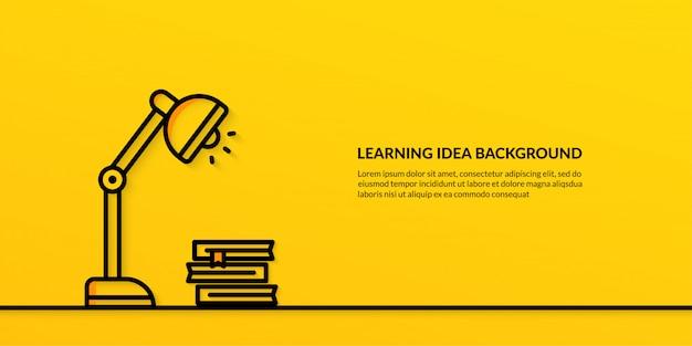 教育、光バナーとアイデアを学習