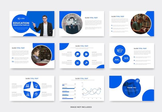 Education or learning powepoint slide presentation template design