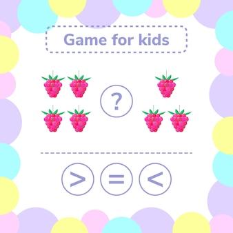 Education logic game for preschool kids