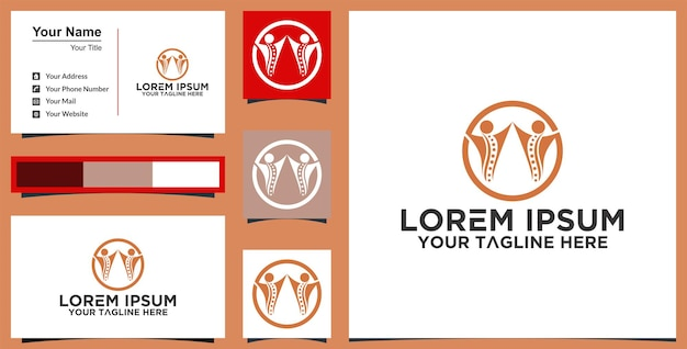 Education logo and business card premium