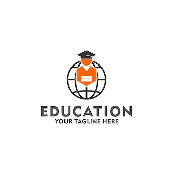 Education logo concept isolated in white background