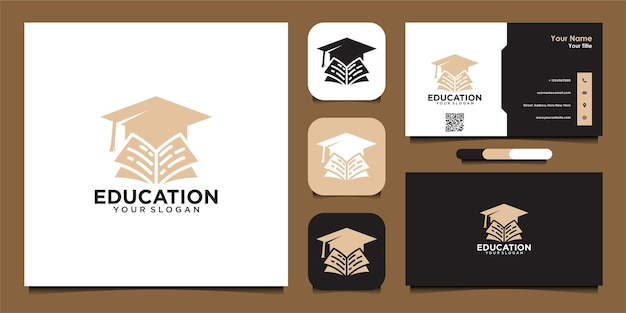Education logo design and business card