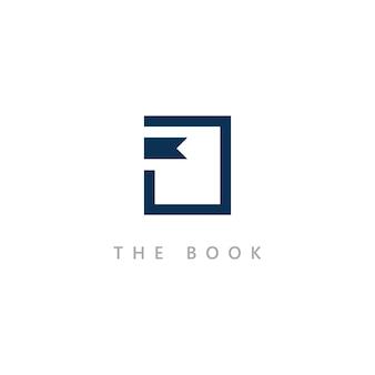 교육 로고 아이콘 템플릿입니다. 책 삽화