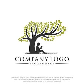 教育ロゴインスピレーションフラットデザイン